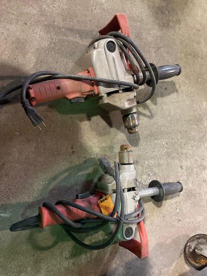 (2) Milwaukee Hole Shooter Drills. No keys