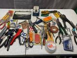 Large lot of assorted hand tools, screwdrivers, pliers and more