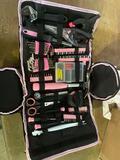 Pink colored home repair kit
