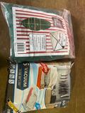 Christmas tree bag and 5 vac storage bags