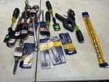 Lot of assorted tools, bits, wrenches, drill bit and more