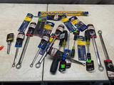 Lot of assorted tools, wrenches, bits, and more