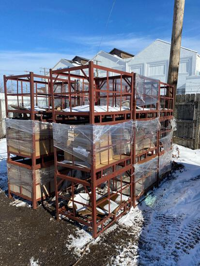 (21) 28 x 37 steel shipping crates.