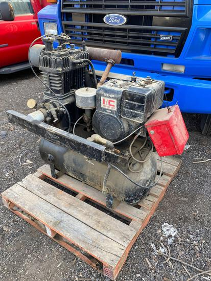 10hp Gas Air Compressor off service truck