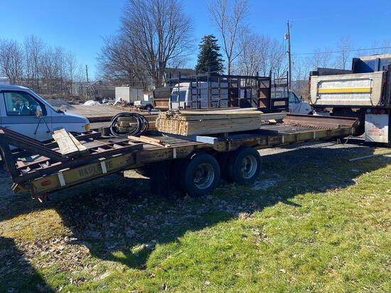 Haulette Co 20ft + 4ft Tandem Dovetail Equipment Trailer