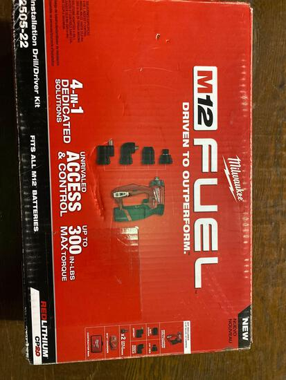 New in Box Milwaukee M12 Fuel Drill/Driver Kit