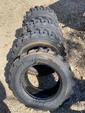 Set of (4) NEW West Lake Co 10-16.5 Skidloader Tires