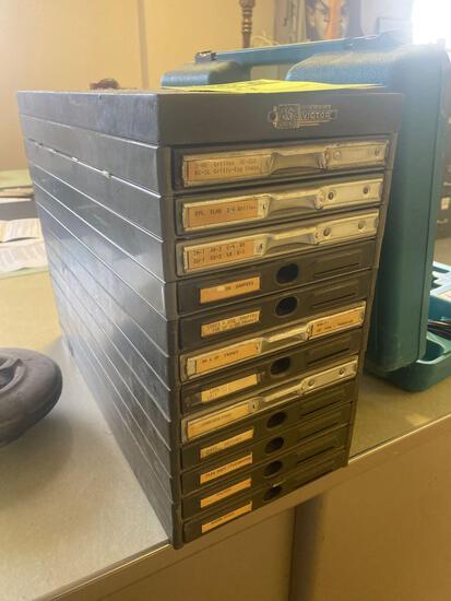 Vintage Victor Co desktop card filer