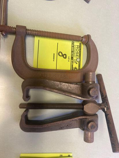 (2) Assorted Vintage Clamps