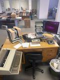 Vintage Wooden Desk-no contents