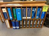 Pair of wooden bookshelves