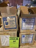 (4) electric motors, (2) 1/3, (2) 1/2 hp . All seem to be new or lightly used