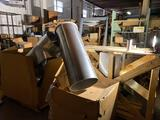 Whole section of large commercial duct work, louvers, registers, steel door frames, vents and more.