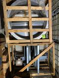 Very large industrial exhaust fan setup