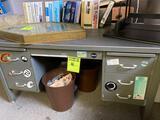Vintage Metal Office Desk.
