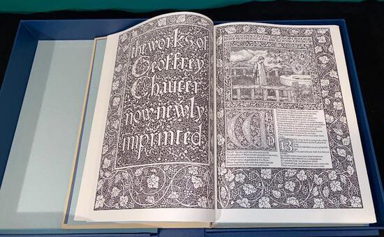 The Works of Geoffrey Chaucer - Fascimile of Kelmscott Press LIMITED Edition - The Folio Society
