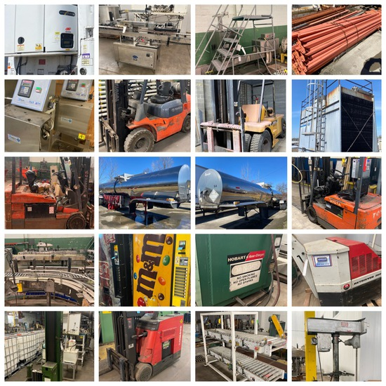 Packaging Equip, Semi-Trailers, Lifts, Tanks/Machy