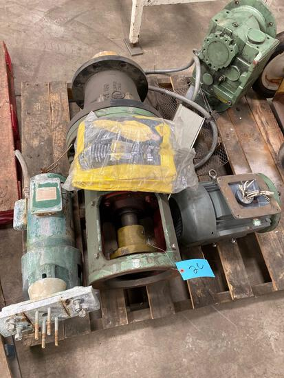 Pallet of motors and pumps