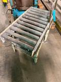 Conveyor section with adjustable height legs 33 inches long