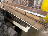 Wood door salvage lot, frames and antique wood doors