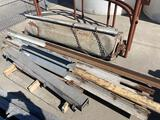 Pallet of Angle Iron and Roll Up Door Unit