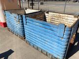 (2) Steel Scrap Totes