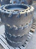 Set of (4) 8 lug Skidloader solids