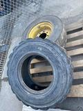 Skidloader tire and wheel