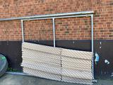 Privacy chain link fence section