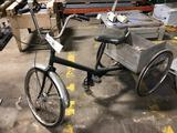 Tricycle with spare seat and handlebar