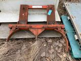 Fork mounted double barrel carrier