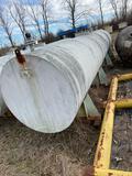 Large steel vessel, 4' across, 20' long