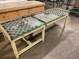 Steel ball point roller table