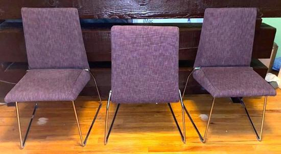 Chrome Based Upholstered Chairs (6)