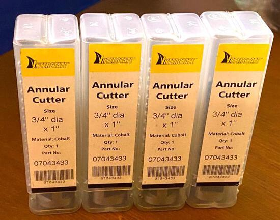 "..."" D X 1"" Annular Cutter (4) - NEW in Package"