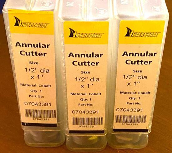 "..."" D X 1"" Cobalt Annular Cutter (3) - NEW in Package"
