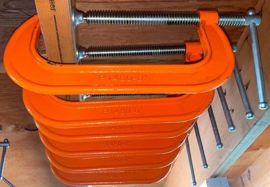 """8"""" Orange C Clamps (6)"""