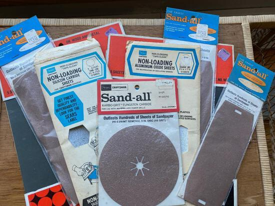 Vintage Craftsman and Sears Sandpaper- Awesome Packakging