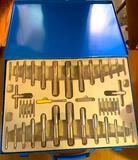 Tap Set in Blue Metal Latching Case