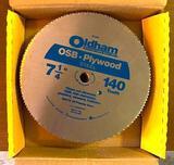 Master Pack Oldham 140 Tooth OSB-Plywood Steel 7.25