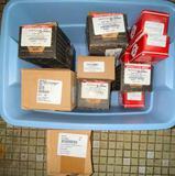 Bin Full of Boxed Fasteners