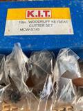 10 Piece Woodruff Keyseat Cutter Set