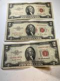 3- 1953 Red Seal Notes
