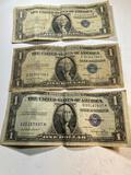 2- 1935 and 1- 1957 $1 Silver Certificates