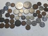 Huge Lot of Canadian Coins, all Vintage, and several silver coins