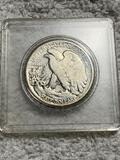 1945 United States Half Dollar in snap case
