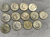 15- Assorted 40% Silver Half Dollars