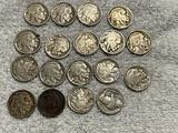 18- Assorted Buffalo Nickels, most with full dates