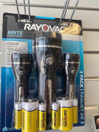 Rayovac LED Flashlight Set