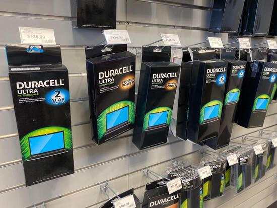 14 assorted Duracell Rechargeable Laptop Batteries